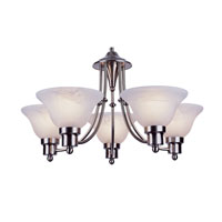Trans Globe Lighting Contemporary 5 Light Chandelier in Brushed Nickel 6545-BN
