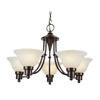 Trans Globe Lighting Contemporary 5 Light Chandelier in Weathered Bronze 6545-WB