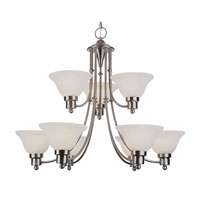 Trans Globe Lighting Contemporary 9 Light Chandelier in Brushed Nickel 6549-BN