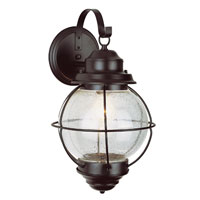 Onion 1 Light 15 inch Black Outdoor Wall Lantern