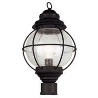 Trans Globe Onion 1 Light Post Lantern in Black 69902-BK