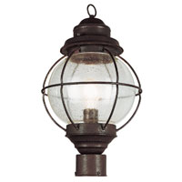 Onion 1 Light 15 inch Rustic Bronze Post Lantern