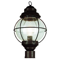 Onion 1 Light 19 inch Rustic Bronze Post Lantern