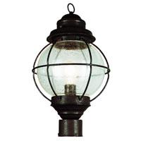 Trans Globe Lighting Coastal 1 Light Post Lantern in Rustic Bronze 69905-RBZ photo thumbnail