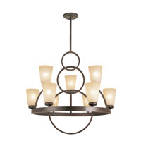 Trans Globe Lighting Back To Basics 9 Light Pendant in Antique Bronze 70099