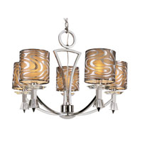 Trans Globe Lighting Young And Hip 5 Light Chandelier in Polished Chrome 70115-PC photo thumbnail