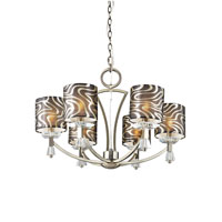Trans Globe Lighting Young And Hip 6 Light Chandelier in Antique Brass 70116-AB photo thumbnail