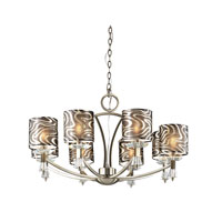 Trans Globe Lighting Young And Hip 8 Light Chandelier in Antique Brass 70118-AB photo thumbnail