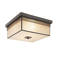 Trans Globe Lighting Contemporary 2 Light Flush Mount in Rubbed Oil Bronze 70177-ROB photo thumbnail