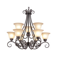 Trans Globe Lighting New Century 9 Light Chandelier in Rubbed Oil Bronze 70199-ROB