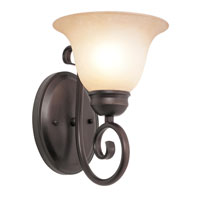 Victorian 1 Light 7 inch Rubbed Oil Bronze Wall Sconce Wall Light