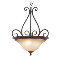 Trans Globe Victorian 3 Light Pendant in Rubbed Oil Bronze 70224-ROB