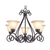 Trans Globe Lighting New Century 5 Light Chandelier in Rubbed Oil Bronze 70225-ROB