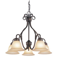 Victorian 5 Light 26 inch Rubbed Oil Bronze Chandelier Ceiling Light