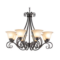 Victorian 8 Light 32 inch Rubbed Oil Bronze Chandelier Ceiling Light