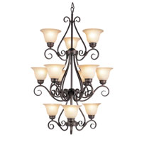 Victorian 12 Light 30 inch Rubbed Oil Bronze Chandelier Ceiling Light