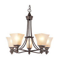 Trans Globe Lighting The Olde World 5 Light Chandelier in Antique Bronze 70235