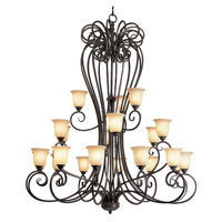 Trans Globe Signature 21 Light Chandelier in Burnished Rust 70291