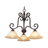 Trans Globe Lighting Taste of Elegance 3 Light Chandelier in Burnished Rust 70293