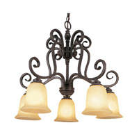 Trans Globe Lighting Taste of Elegance 5 Light Chandelier in Burnished Rust 70295-1