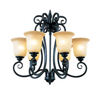 Trans Globe Iron Scroll 6 Light Chandelier in Burnished Rust 70295