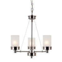 Urban Swag 3 Light 22 inch Brushed Nickel Chandelier Ceiling Light