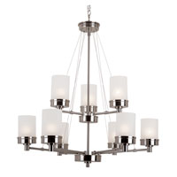 Urban Swag 9 Light 32 inch Brushed Nickel Chandelier Ceiling Light