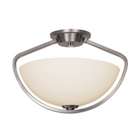 Trans Globe Avant Arc 1 Light Semi Flushmount in Brushed Nickel 70355-BN