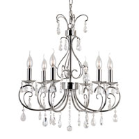 Trans Globe Chic Nouveau 6 Light Chandelier in Polished Chrome 70366-PC