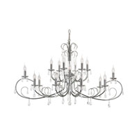 Chic Noureau 18 Light 25 inch Polished Chrome Chandelier Ceiling Light