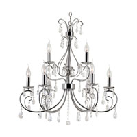 Trans Globe Chic Noureau 9 Light Chandelier in Polished Chrome 70369-PC