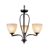 Trans Globe Pullman 5 Light Chandelier in Rubbed Oil Bronze 70376-ROB