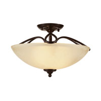 Trans Globe Lighting Pullman 2 Light Semi-Flush Mount in Rubbed Oil Bronze 70377-ROB