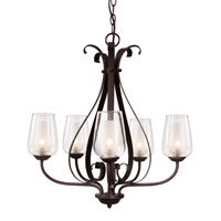 Trans Globe Eclectic Tempo 5 Light Chandelier in Rubbed Oil Bronze 70385-ROB