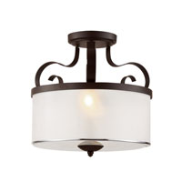 Trans Globe Eclectic Tempo 2 Light Semi Flushmount in Rubbed Oil Bronze 70386-ROB