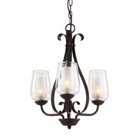 Trans Globe Eclectic Tempo 3 Light Chandelier in Rubbed Oil Bronze 70387-ROB
