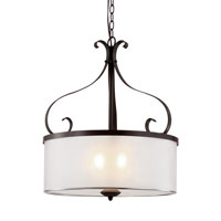 Trans Globe Eclectic Tempo 3 Light Pendant in Rubbed Oil Bronze 70388-ROB