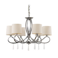 Trans Globe Infinidad 6 Light Chandelier in Polished Chrome 70396-PC
