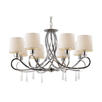 Infinidad 8 Light 31 inch Polished Chrome Chandelier Ceiling Light