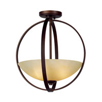Trans Globe Hercules 2 Light Semi-Flush Mount in Antique Bronze 70412-ABZ