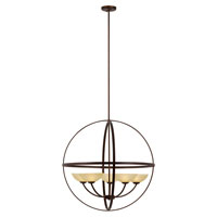 Trans Globe Hercules 5 Light Chandelier in Antique Bronze 70415-ABZ