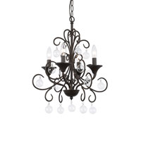 Signature 4 Light 18 inch Antique Bronze Chandelier Ceiling Light