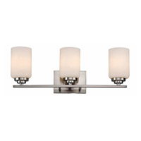 Trans Globe Mod Space 3 Light Bath Bar in Brushed Nickel 70523-BN