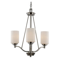 Trans Globe Mod Space 3 Light Chandelier in Brushed Nickel 70525-3-BN