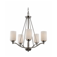Trans Globe Signature 5 Light Chandelier in Brushed Nickel 70525-BN