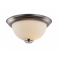 Signature 1 Light 12 inch Brushed Nickel Flush Mount Ceiling Light