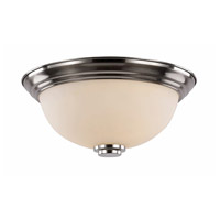 Trans Globe Lighting 70526-13-BN Signature 2 Light 13 inch Brushed Nickel Flush Mount Ceiling Light