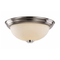 Trans Globe Lighting 70526-15-BN Signature 3 Light 15 inch Brushed Nickel Flush Mount Ceiling Light