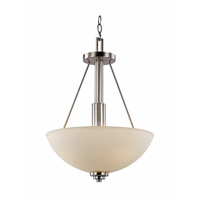 Trans Globe Signature 3 Light Pendant in Brushed Nickel 70528-BN