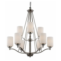Signature 9 Light 29 inch Brushed Nickel Chandelier Ceiling Light